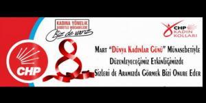 CHP TUT KADİN KOLLARINDAN 8 MART DAVETİ