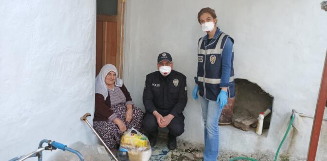 TUT POLİSİ 65YAS USTU VATANDAŞLAR İCİN SEFERBER OLDU