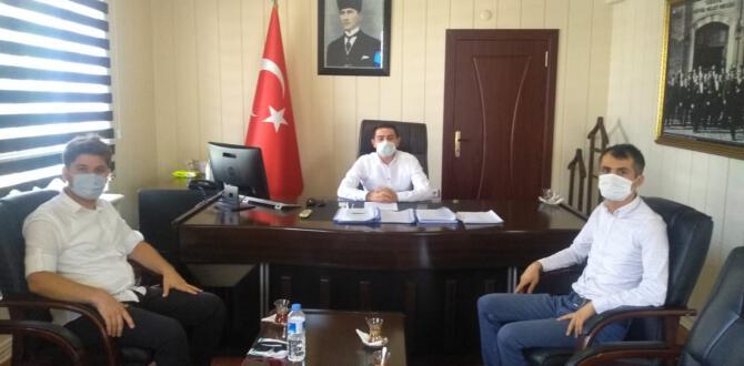 TUT HABER'DEN KAYMAKAM TUGAY'A HOŞGELDİN ZİYARETİ